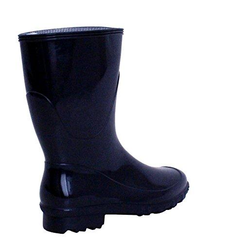 Damen Schnee Neue Kalb Kurze Damen Wellington Festival Mud Mädchen Mitte Wellies Regen Wasserdichte Navy Stiefel rEHwYrdnq