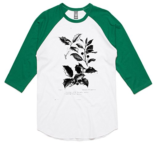 theindie-botanical-diagram-black-3-4-sleeve-raglan-baseball-t-shirt-white-kelly-xs