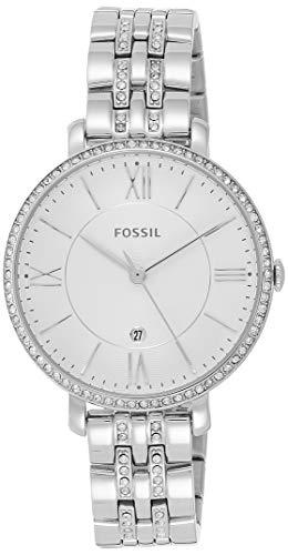 Fossil Women's Jacqueline Quartz Stainless Steel Dress Watch, Color: Silver-Tone (Model: ES3545)