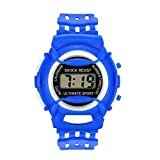 XBKPLO Kids Watch,Digital LED Sport Watches Boys Girls Waterproof PU Resin Strap Comfortable Breathable For Age 5-16 Child (Blue)