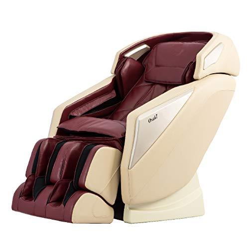 Osaki Pro-Omni Zero Gravity Massage Chair, Unique Foot Rollers, L-Track Design (Burgundy)