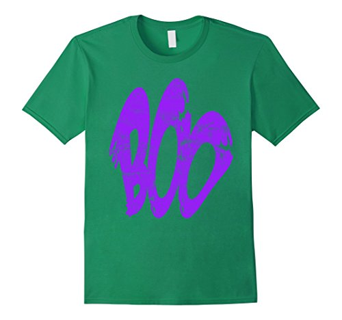 Mens Boo Spooky Purple Ghost Costume Halloween 2017 T-Shirt Small Kelly Green (Homemade Halloween Costumes Ideas For 2017)