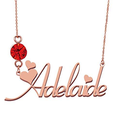 HUAN XUN Personalized Name Adelaide Jewelry Birthstone -
