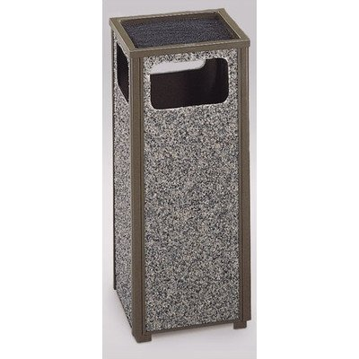 - 12-Gal Aspen Sand Top Ash/Trash Receptacle [Set of 2] Color/Finish: Architectural Bronze/Glacier Gray Stone Panels, Urn Type: Weather Urn