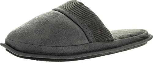 Empire Mens Microsuede Sweater Detail Mens Open Back House Slippers Grey AeFBP