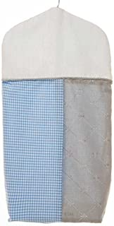 product image for Glenna Jean Starlight Diaper Stacker, Blue/White/Grey/Silver Metallic