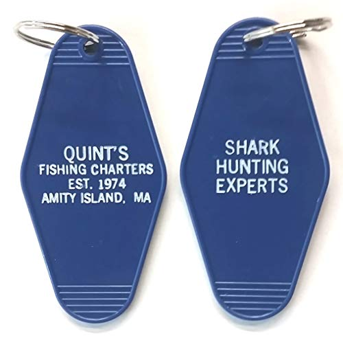 Quint's Fishing Charters Key Tag Inspired by the movie Jaws - Shark Hunting Experts