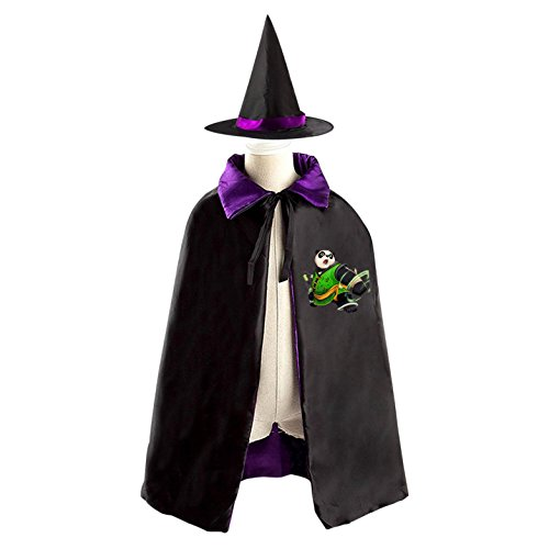 Panda Kid Halloween Cloak Vampire Cape Witch Hat Cosplay - Tai Lung Costume