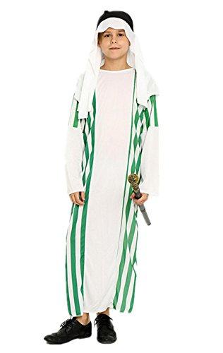 Halloween Cosplay Costume Children Middle East Arabia Prince Saudi Dubai Prince Robes Costumes (Small, APE) - Saudi Prince Costume