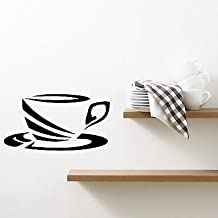 Wall Decal Cup Calyx Coffee Tea Kitchen Cafe Saucer Vinyl Stickers VS266