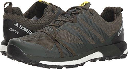 - adidas outdoor Men's Terrex Agravic GTX Base Green/Base Green/Shock Yellow 11.5 D US D (M)