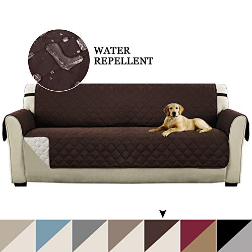 (Reversible Furniture Protector for Extra Wide Sofas, Quilted Couch Covers Seat Width Up to 78