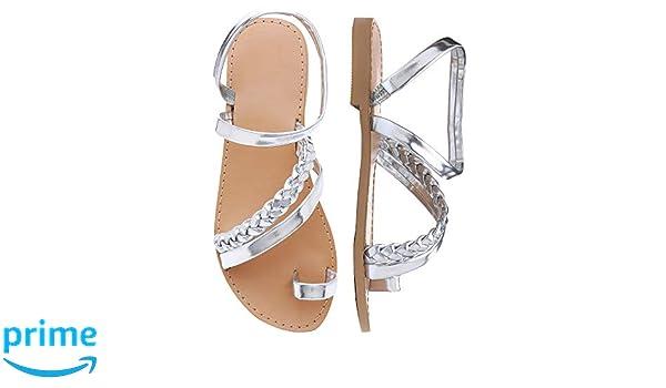Shoe'N Tale Women Toe Ring Gladiator Flat Sandals Elegant