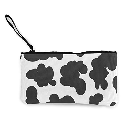 Terany Canvas Pencil Case - Black White Zebra Durable Cosmetic Makeup Bag Zipper Closure Coin Purse Wallet Phone Pouch with Handle for Women Kids Adults]()