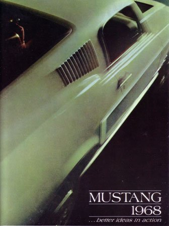 1968 FORD MUSTANG Sales Brochure Literature Book ()