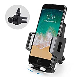 Car Phone Holder Air Vent – Avolare Newest Phone Mount 360 Degree Swivel Car Cradle Universal Car Mount Holder One Hand Operation Release Holder for iPhone X 8 7 6s Samsung Galaxy S8 S7 Nexus