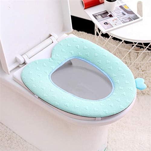 ACIJLRVZK Warme Toilettensitzkissen-Reißverschlussauflage-Badezimmerzusätze