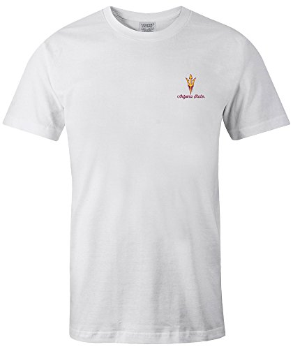 NCAA Arizona State Sun Devils Adult 50 States Comfort Color Short sleeve T-Shirt, Medium,White
