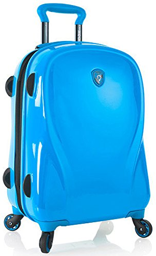 Heys Xcase 2G Azure Blue 21' Carry-on Spinner Luggage, 100% Polycarbonate