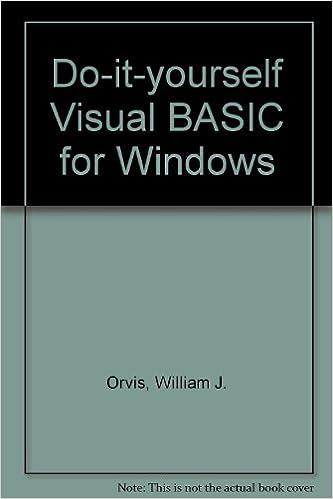 Do it yourself visual basic for windows 9780672302596 computer do it yourself visual basic for windows 9780672302596 computer science books amazon solutioingenieria Choice Image