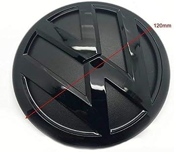 Gloss Black 120mm Front Grill Bonnet Badge Emblem For Polo 6R MK5 2009-2014