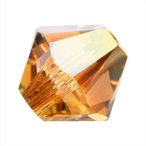 - Swarovski Crystal, 5328 Bicone Beads 3mm, 25 Pieces, Crystal Metallic Sunshine