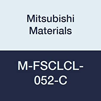 Heavy Metal Shank Mitsubishi Materials M-FSCLCL-052-C M-FSCLC Series Screw Clamp Dimple Boring Bar with 0.250 IC Rhombic 80/° Insert 0.313 Shank Dia. 95/° Cutting Angle Left