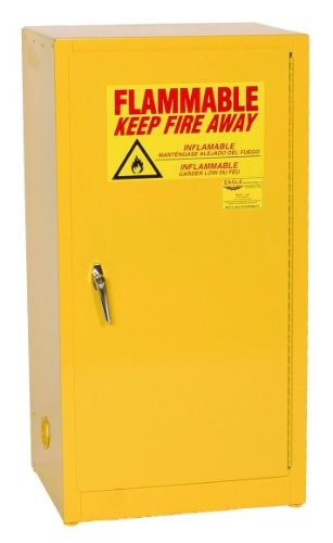 Flammable Liquids Safety Storage - Eagle 1905 Safety Cabinet for Flammable Liquids, 1 Door Self Close, 16 gallon, 44