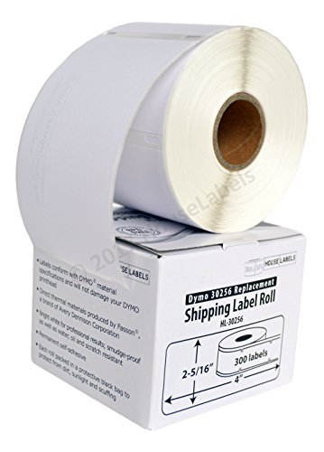 DYMO-Compatible 30256 Large Shipping Labels (2-5/16 x 4) - BPA Free! (6 Rolls; 300 Labels per Roll)