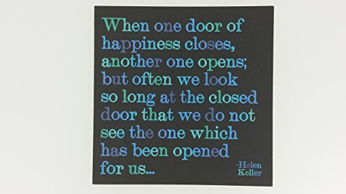 """Quotable Keller: """"When one door of happiness…"""" - Cards Quotes Greetings Occasions CARD-D102-QUOTE"""