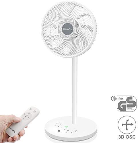 Ventiladores Altos DC Motor ventilador de pie - ventilador de mesa silencioso con control remoto/altura 92 cm/diámetro 34 cm / 9 aspas / 80% de ahorro de energía/ventilador de turbo de circulación de aire: Amazon.es: Bricolaje y herramientas