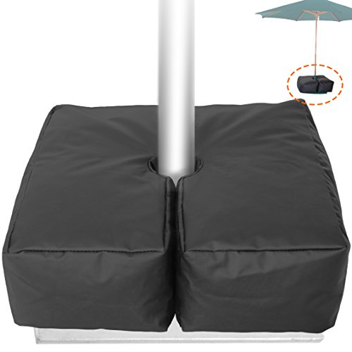 Sand Sunbrella - Weather Resistant Weights for Patio Umbrella Base - 19'' Square. for Classic Outdoor Umbrellas, Hanging, Cantilever & Offset Models. Detachable Velcro - Easy Installation. XL Opening for Filling Sand