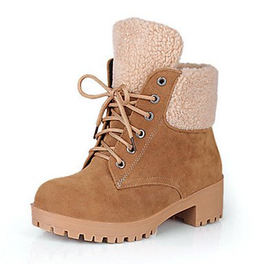 Suede Toe Flat Boots Novelty Women's Shoes RTRY Winter US8 Comfort Ankle UK6 5 Booties Round Boots Bootie Heel Lace amp; Fashion EU39 Office up For Fall CN40 5 Boots qxEWAWPw6
