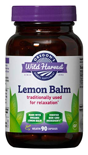 (Oregon's Wild Harvest Lemon Balm Capsules, Non-GMO Organic Herbal Supplements (Packaging May Vary), 90 Count)