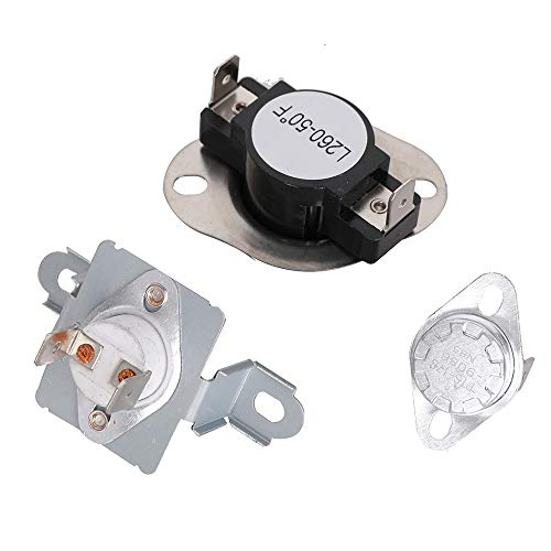 DC96-00887A & DC47-00018A & DC47-00016A Durable Dryer Thermal Fuse Thermostat Kit Replacement Part for Samsung & Kenmore Dryers