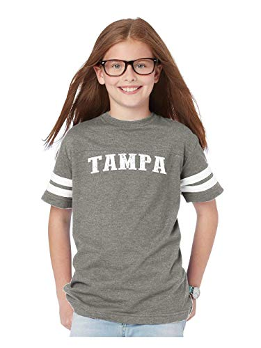 Florida Tampa Home Traveler`s Gift Youth Unisex Football Fine Jersey Tee (YLSG) Sport Grey