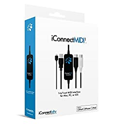 iConnectMIDI1 Lightning Version, 1-in 1-out USB to MIDI Interface for Mac, PC and iOS