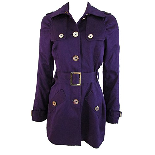 Juicy Couture Women's Satin Trench Coat Belted Small Blac...