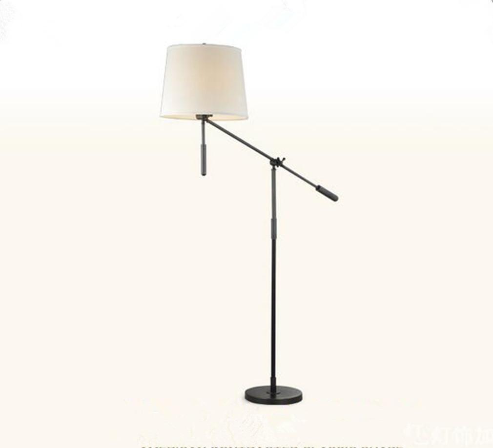 Modernes kreatives Eisen-Tuch Justierbare LED-Stehleuchte Wohnzimmer-Schlafzimmer Büro-Studio-Landhaus Hotel-Galerie-Leselampe , black