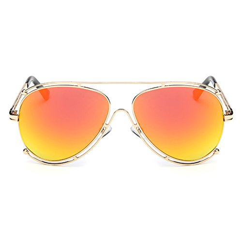 A-Royal Fashion Personality Metal Frame Wayfarer - Overxcast Sunglasses