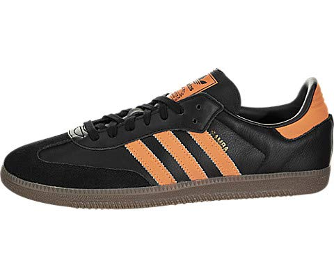 d28c5f0c89a Galleon - Adidas Samba Classic Indoor Soccer Shoe - Core Black Hi-res Orange Gold  Metalic - Mens - 10