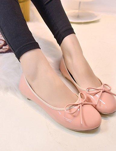 mujer cn36 pink plano punta uk4 PDX rosa negro talón Casual us6 de de eu36 Flats Beige zapatos redonda SqwxTtO
