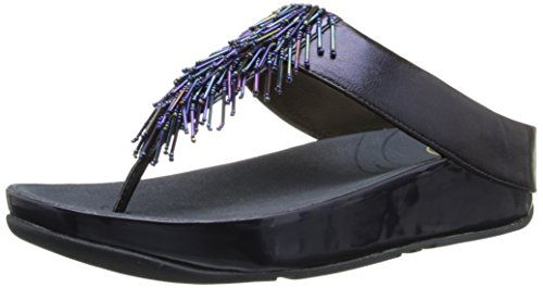 FitFlop Women's Cha, Sapphire, 8 M US (Dangle Sparkle Beads)