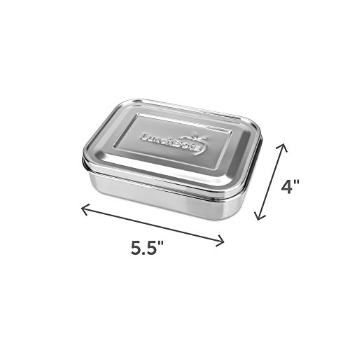LunchBots Small Protein Packer Snack Container - Mini Stainless Steel Food Box With Portion Control Sections - Great for Nuts, Meat, Cheese and Finger Foods - Eco-Friendly, Dishwasher Safe and Durable by LunchBots (Image #1)
