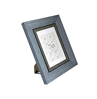 DY Frame 8x10 6x8 5x7 4x6 Picture Frame Vintage Green-Gray Rustic Home or Office Decor | Vertical or Horizontal Tabletop Stand or Wall Mounting | Baby, Pet, or Family Photos, Diploma
