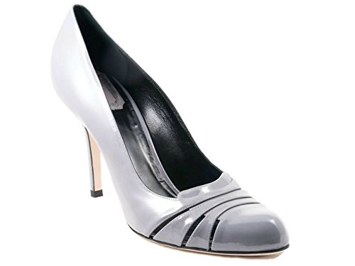 Christian Dior Glam Gray Patent Leather Pumps Size 41 US (Christian Dior Patent Leather)