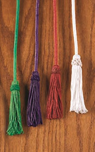 (Bishop Clergy Rayon Cincture with Tassel Religious Pectoral Rope, Red)