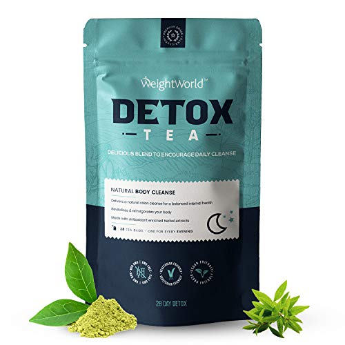 Detox Tea Bags x 28 – Herbal Green Tea Detox Supplement, Loose Leaf Tea Bags for Diet Relief & Max Body Cleanse Day…