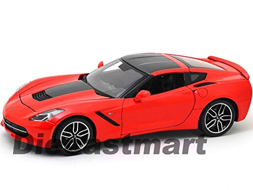 MWDx102 2014 Chevrolet Corvette Stingray C7 Z51 Torch RED Exclusive 1:18 38132 ()