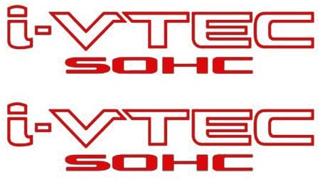 "9/"" RED Sticker Honda Civic Decal Accord JDM I VTEC S2000 2 PACK i-VTEC DOHC"